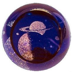 saturn paperweight glass