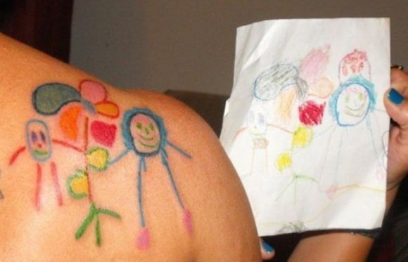 Would You Get A Tattoo Of Your Child's Artwork?